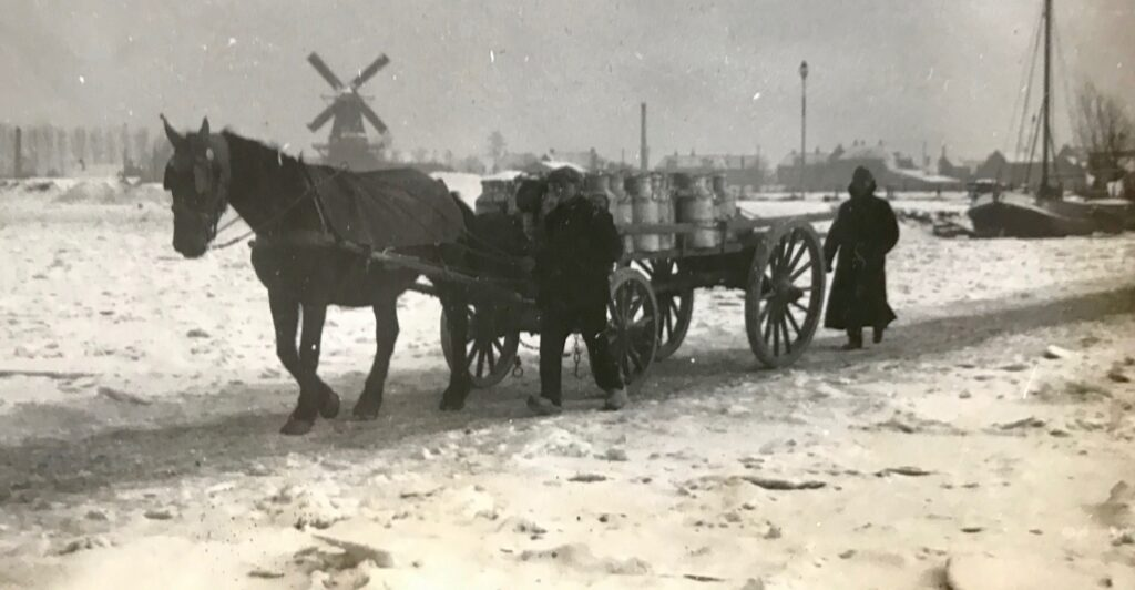 bevroren IJssel in 1940