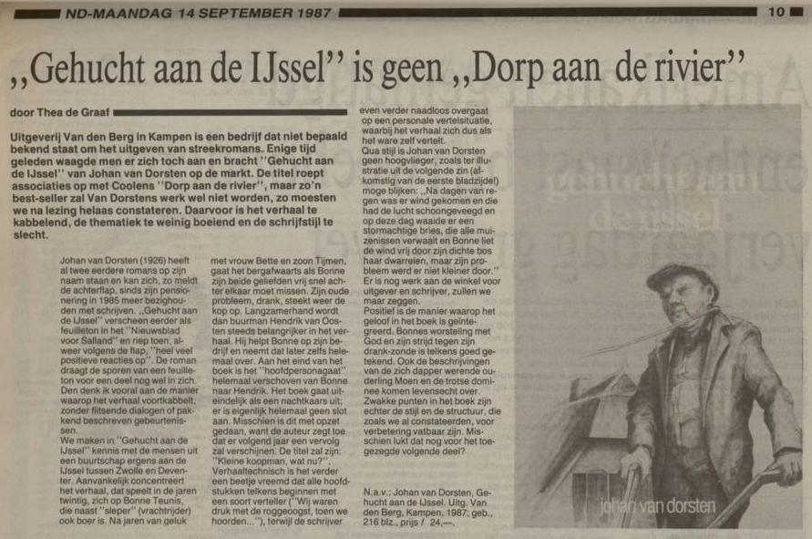 Johan van Dorsten is geen Anton Coolen