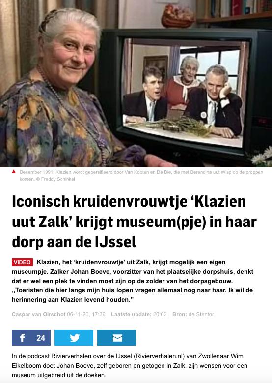 Stentor over museum Klazien