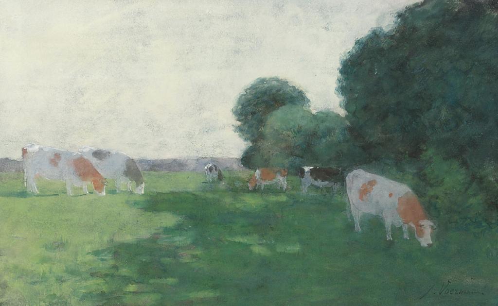 Jan Voerman schilderde vaak IJsselvee